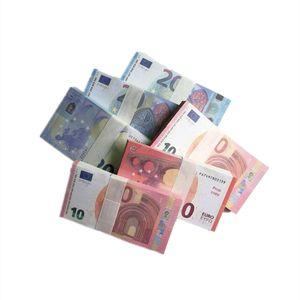 EUR HAUTE QUALITE PROP AMÉRIÉRATION FAUX BILLET 10/20 EURO FACKS FAUX JOUE DE L'ARGENT 100PCS / PACK LIVRAISON GRATUITE