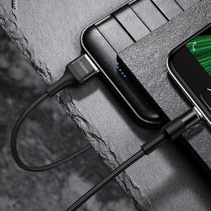 USAMS US-SJ224 U5 12m 2A Ausgang USB zum Mikro-USB-Aluminiumlegierung Geflochtene Data Sync-Ladekabel