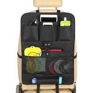 4 USB Şarj Araba Koltuğu Saklama Çantası Araba Koltuğu Geri Saklama Çantası Organizatör Şarj DHL UPS Ücretsiz Kargo Yeni Gelmesi
