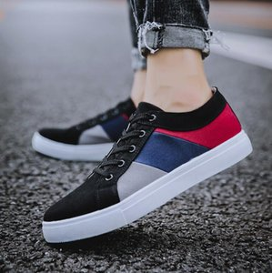 Free shipping 2021 New Canvas Shoes Korean Style Mens Versatile Casual Shoes Trendy Extra Large Size Sneakers size39-47