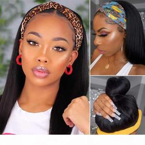 Beaudiva Perruques cheveux raides humain simple perruque moitié droite brésilienne Bandeau perruque de cheveux On dirait REAL Bandeau naturel