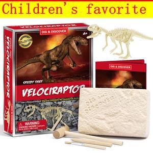 Kinder DIY Dinosaurier spielt Spielzeug Jurassische Tiere Dinosauryrannosaurus Triceratops Skeleton Fossile Archäologie Graben Montage Spielzeug