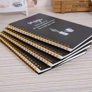 2 PCS LOT Spiral notebook A5 Lined page diary Plastic hard cover 80 sheets Planner Notebooks and journals