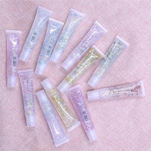 Crystal Glitter Lip Gloss Glossy Transparent Moisturizing Lip Oil Maintenance Lipgloss Beauty Makeup Liquid Lipstick Lip Care 6pcs
