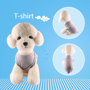 Pet T-shirt Dog Costume Spring And Summer Thin Solid Color Dog Vest Undershirt Clothes Pet Clothing Free DHL