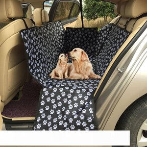 Pet Carriers Oxford Fabric Pattern Car Pet Seat Cover Dog Car Back Seat Carrier Waterproof Mat Hammock Cushion Protector