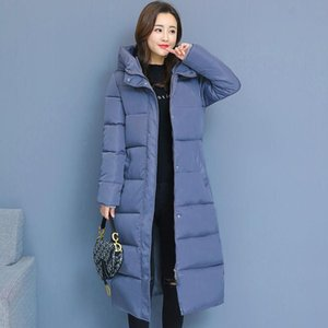 women winter bubble coats down long padded clothes solid color black jacket puffer warm thick winter parkas slim over knee