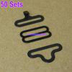 Großhandel -50 Sets Fliege Hardware Sets Krawatte Haken Fliege oder Krawatte Clips Verschlüsse Verstellbare Gurte auf Bow Ties / Krawatten Stellen