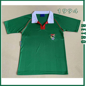 Bolivie 1994 Retro Version Sport Club Do Retro Soccer Jersey 94 Chemise de football Vintage à manches courtes