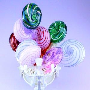 """Красочный леденец Pyrex Pipe Glass Hand труб БУ Трубы из стекла Ложка трубы Cartoon изображение 4,7"""" дюйма"""