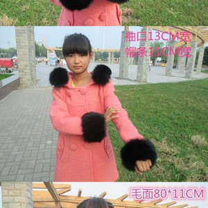 Real fur coat collar specials large collars general brim manufacturers selling wholesale black white