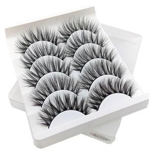 2021 New 5 Pairs 3D Natural Long Fake Eye Lashes Thick Makeup False Eyelashes