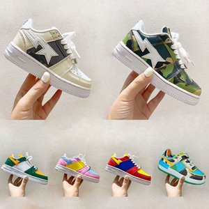Camo Concepts Childrens Deliver Exclusive Baped Stas X Aforce 1 Footwear One Trainers Kids Sport Shoes Boy Girls 1 Sneakers