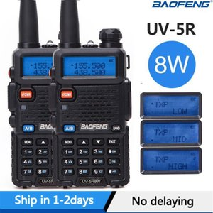 2pcs 실제 8W Baofeng UV-5R Walkie Talkie 높은 전원 휴대용 햄 CB 라디오 UV 5R 듀얼 밴드 VHF / UHF FM 트랜시버 양방향 라디오 1
