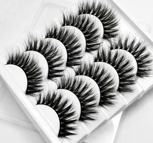 5 Pairs 3D Mink False Eyelashes Fake Lashes Long Makeup Natural Faux Eyelash Extension Mink Beauty Makeup Wholesale