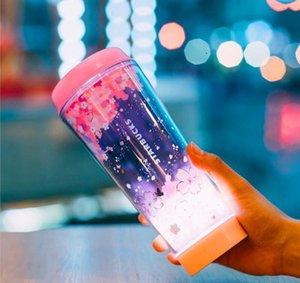 Estate Starbucks Rosa Sakura LED Luminescenc tazza di caffè 12 once I fiori di ciliegio in volo tazza Fuori porta tazza di accompagnamento portatile