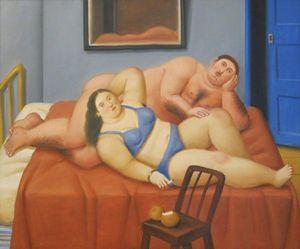 Фернандо Ботеро Ню девушка Абстрактный рисунок маслом Современные Холст стены искусства Фотографии Постеры распечаток для спальни Home Decor