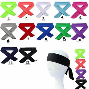 Sport Headbands Solid Tie Back Stretch Sweatbands Yoga Hair Band Moisture Wicking Men Women Bands scarves for Running Jogging GGA517