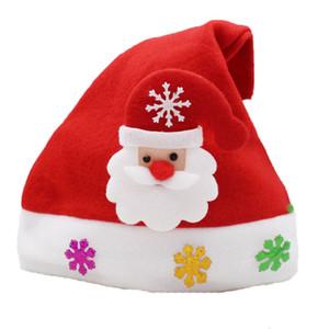Christmas Hat Weihnachten Mini Red Weihnachtsmann Schneemann-Hirsch-Partei-Dekor Weihnachten Caps Dekorationen Beanie für Kinder Erwachsenengeschirr Halter GGB2314