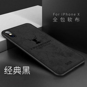 Suitable for iphone11 cloth pattern leather mobile phone shell XR creative elk head 8plus ultra-thin protective cover