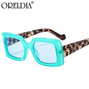 Oreldia moda colorido quadrado óculos de sol senhoras doces cor óculos retro tendência de tendência de tendência uv400 homens1