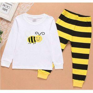 Детская одежда мальчика Детская мультфильм Длинные Sve Bee Бытовая костюм Pajamas D02