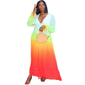 Plus Size African Dresses for Women African Clothes Ladies Dashiki Robe Africaine Femme Long Sleeve Africa Dress Summer Clothing