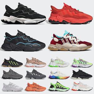 2020 añade zapatos casuales zapatos adidas ozweego Trail Halloween blanco retro mujeres de los hombres zapatillas de deporte, Blanco, Nube Púrpura Negro Blanco entrenador deportivo