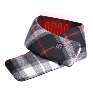 New Winter Heated Scarf USB Electric Heating Scarf Plaid Couple Neckerchief Collar Scarves Neck Warmer