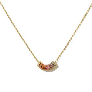 new minmal dainty rainbow cz floating moving rainbow cz choker necklaces simple charm delicate women jewelry gold filled