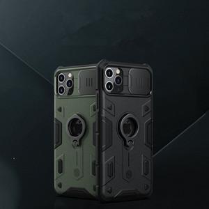iPhone11 12pro ماكس حالة الهاتف المحمول قوس حلقة مشبك العسكرية المضادة للإسقاط عدسة انزلاق الأكمام