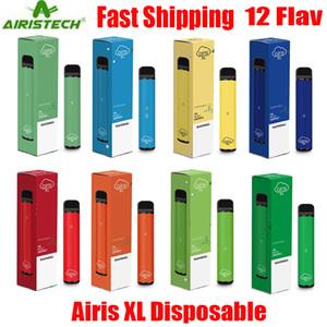 Dispositif d'origine Airis XL jetable Pod Kit 1200 Puff 850mAh 5ml préremplies Bar Pen Portable Vape XXL bâton plus Max 100% authentiques 12 couleurs