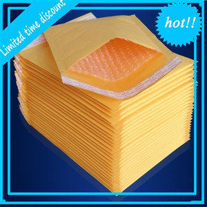 100pcs Many Sizes Yellow Kraft Mailing Envelope Bubble Mailers Padded Envelopes Packaging Shipping Bags