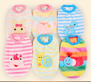 0-2 months baby Pet winter flannel warm Sweater baby dog and cat clothes Holiday for girl