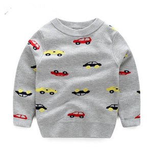 Knitted Toddler Boy Sweater Casual Spring 2020 Cartoon Car Pattern Warm Cotton Boys Sweaters Pullovers Children Kids Sweaters bbyuKA