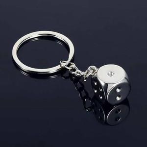 Keychain Key Chain Keyring Personality Metal Dice Game Zinc Alloy Model Car Bag Keychains Key Holder Trinket Charms