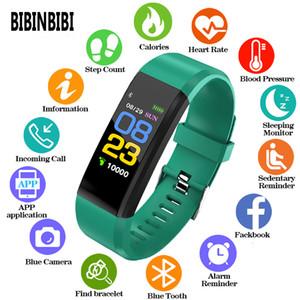 Pressione BIBINBIBI Moda Donna Uomo intelligente Guarda Kid cardiofrequenzimetro Sangue Fitness Tracker Smartwatch orologi per iOS Android