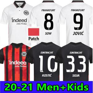 20 21 Eintracht Frankfurt Jovic Soccer Jerseys 2020 2021 Frankfurt Kostic Sau Silva Hinteregger Abraham Hasebe Kamada Hrustic Football Kit