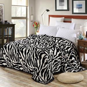Jane Spinning Zebra Couverture en molleton rayé floue super confortable Couverture souple Floral Jeté lits avion canapé bureau X1029