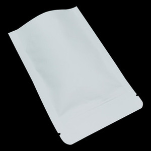 100pcs 914cm Stand Up White Brown Kraft Paper Aluminum Foil Zip Lock Packaging Bag Mylar Heat Seal Food Gifts Packing Pouch H bbyXFH