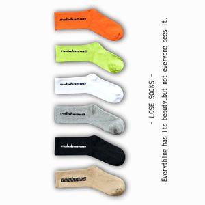 Herren Socken SEASON 6 Skateboard-Mode-Männer Buchstabe gedruckten Socken Sportsocken Sockings Hip Hop