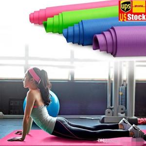 STOCK US 10mm de espessura Yoga Mats Iniciante Yoga Sports exercícios ao ar livre Indoor Gym Sala de ginástica Mats Crianças Dança Mats Com Carring Bag FY6162