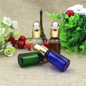 15ml Amber Blue Green Transparent Glass Refillable Bottles For Essential Oils With Eye Droppers from Essentials 100pcs lot