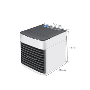 FreeShipping Home Mini Air Conditioner Portable Air Cooler 7 Colors LED USB Personal Space Cooler Fan Air Cooling Fan Rechargeable Fan Desk
