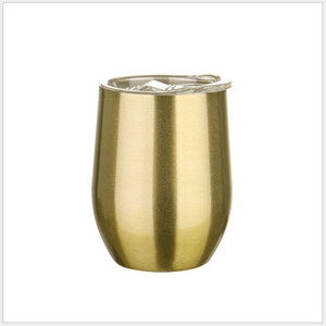 12oz Rainbow Wine Tumbler Egg Shaped Stemless Tumbler Double Wall Stainless Steel Tumbler 12oz coffee mug with lid