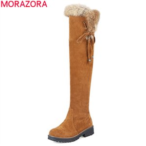 2020 big size 34-44 over the knee boots fashion keep warm snow boots low heel round toe winter women boots black brown210