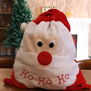 Christmas gift bag Santa gift bag holiday gold velvet cloth candy backpack decoration party bag Dropshipping F8301