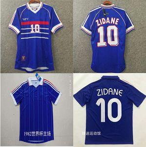 Thaïlande 1998 1984 Francé Coupe du Monde Coupe Retro Vintage Zidane Henry Platini de Foot Soccer Jerseys Enformes Maillots de football Jerseys Shirt
