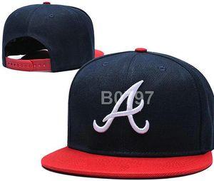 2020 Braves hat A Logo Team Fans's Snapback Hat Brand Popular Hip Hop Adjustable Cap Curved Flat Bill With Special Printed Visor a0