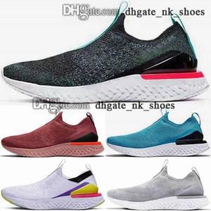 con caja Phantom Niños Tamaño EE. UU. Fly Girls Sneakers EUR Knit Epic Shoes Classic 2019 Joggers 12 46 Reaccionar entrenadores 5 hombres mujeres corriendo 35